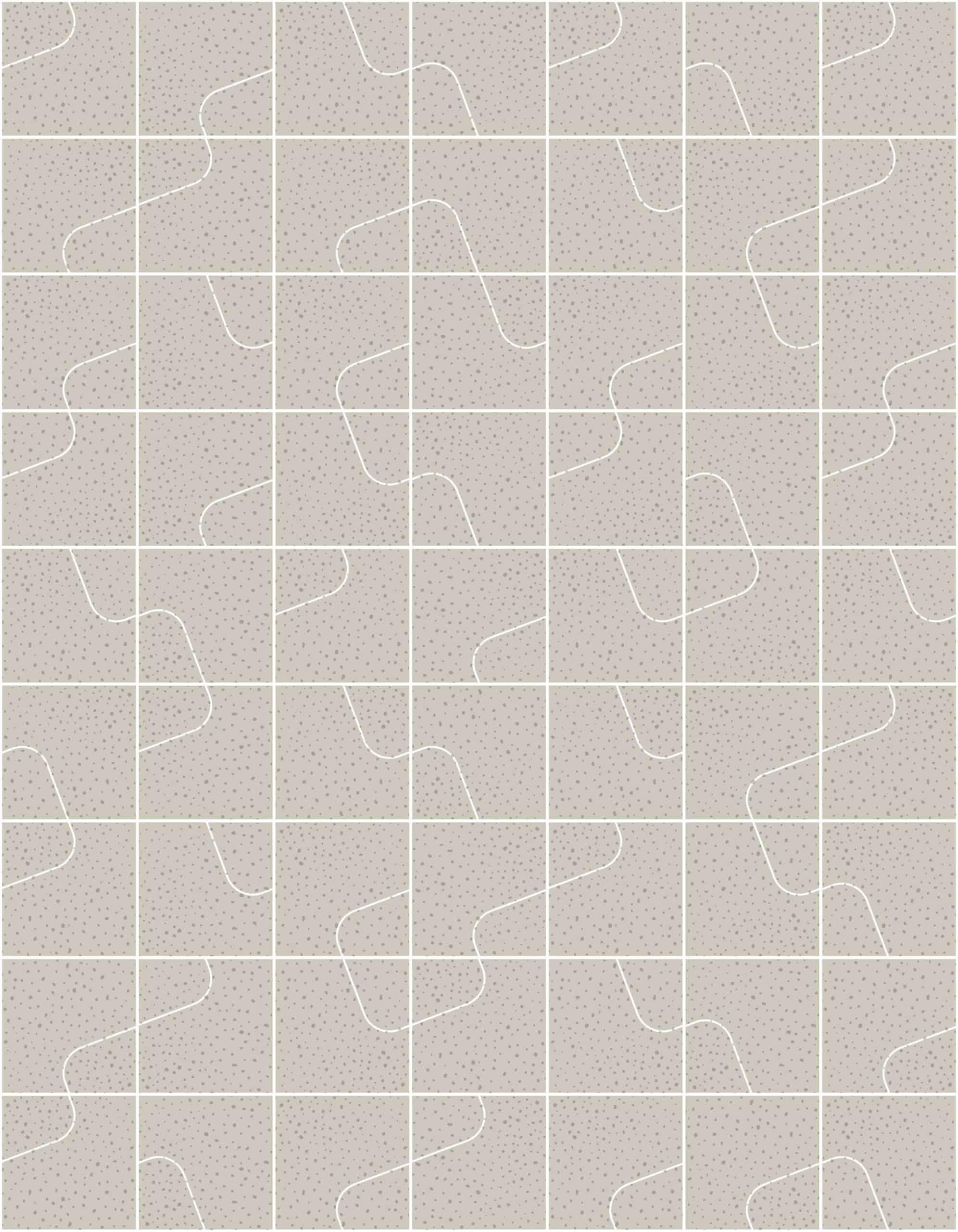 Quilt Chalk Raw Tiles
