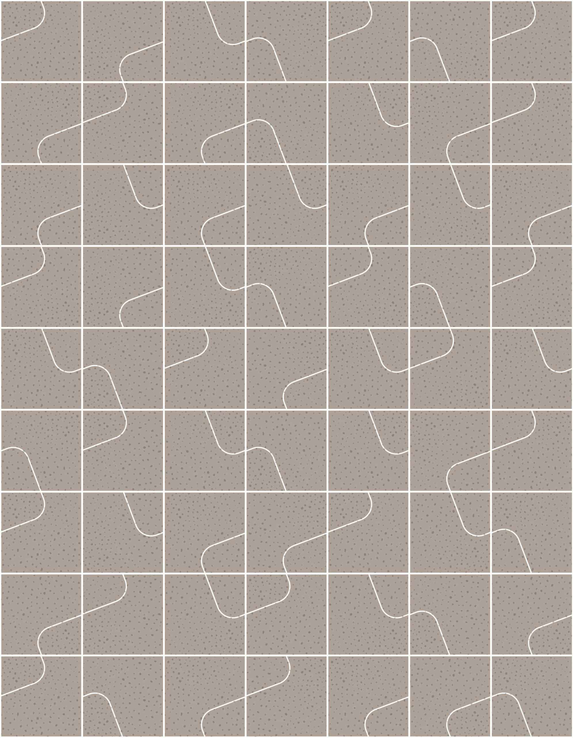 Quilt Clay Raw Tiles